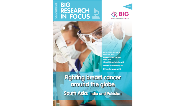 BIG Research in Focus newsletter cover, researcher, Fighting breast cancer around the globe: South Asia - India and Pakistan